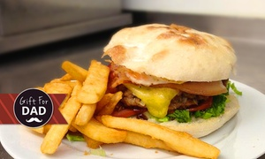 Burger Buzz: Burger and Chips with Pot of Beer for Two ($25) or Four People ($49) at Burger Buzz, Brunswick (Up to $96 Value)