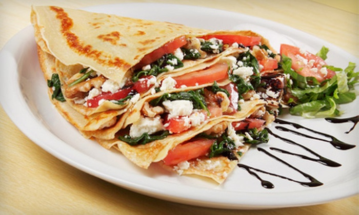 Cream of the Crêpe - Park Ridge: 50%Crepes and Drinks for Two or Four at Cream of the Crêpe (Up to Half Off)