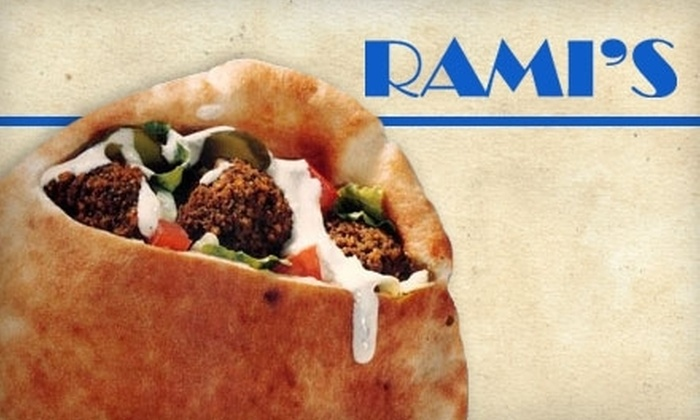 Rami's - Coolidge Corner: $12 for Two Groupons, Each Valid for $10 Worth of Middle Eastern Food at Rami's ($20 Value)