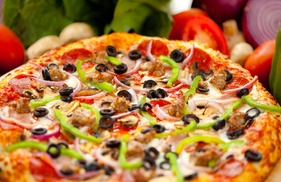 Cafe Angelinos: One 2-Liter of Soda with Purchase of 1 Large Pizza with 2-Toppings at Cafe Angelinos
