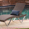 San Marco Outdoor Multi-Brown Wicker Chaise Lounge Chair