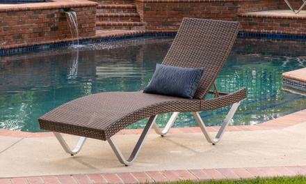 36 off on outdoor wicker lounge chair groupon goods for Ashley san marco chaise
