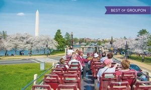 Big Bus Tours: Sightseeing Bus Tour of Washington D.C. with Wax Museum Visit for 1 or 2 with Big Bus Tours (Up to 59% Off)