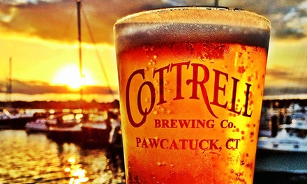 Cottrell Experience with Growler and Pint Glasses for One or Two at Cottrell Brewing Co. (Up to 34% Off)