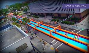 The Urban Slide - Jacksonville: Single, Triple, or 5x Slider Admission to The Urban Slide on Saturday, May 21 or Sunday, May 22 (50% Off)