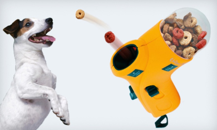 Unique Petz Treat Launcher: $8.99 for a Unique Petz Treat Launcher in Black, Orange, or Pink ($24.99 List Price)