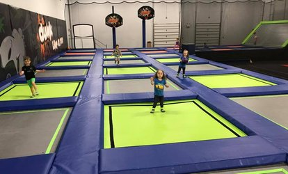 60-Minute Jump Pass for 2, 4, or 6 People, or Light W8 Party for Up to 8 Kids at W8less (Up to 46% Off)