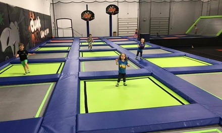 Trampoline Park Jump Pass for One, Two, Four, Six, or Eight at W8less (Up to 41% Off). Nine Options Available.