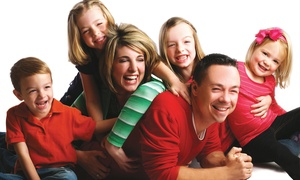 Family Photo Shoot Including Hair & Makeup For One Or Two Plus Digital And Print Images At Glamour Shots (up To 94% Off)