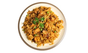Sharjah: Choice of Vegetable or Chicken Biryani from R98 for Two at Sharjah