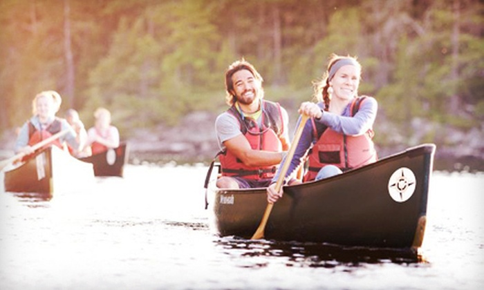 Voyageur Canoe Outfitters - Vickers Heights: Four-Day Canoe Trip for Two or Four from Voyageur Canoe Outfitters (Up to 52% Off)