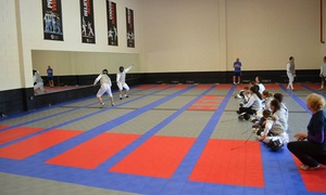 Academy of Fencing Masters: Four or Six Beginner Fencing Classes at Academy of Fencing Masters (50% Off)