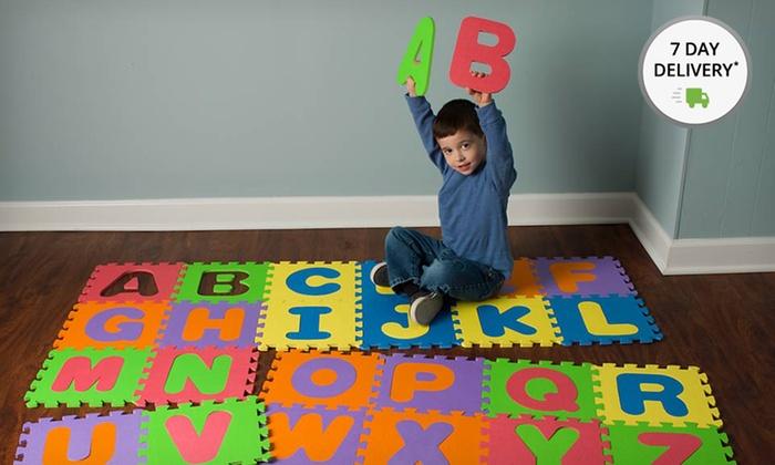 Foam Alphabet Play Mat Groupon Goods
