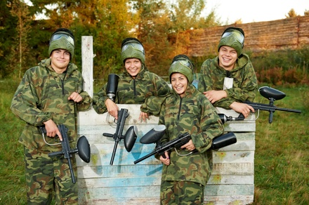 5 or 10 Paintball Outings at Participating Fields from PaintballTickets.ca (Up to 58% Off)
