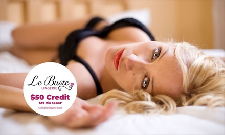 $10 to Spend on D+ Lingerie at Le Buste Lingerie Min Spend $99