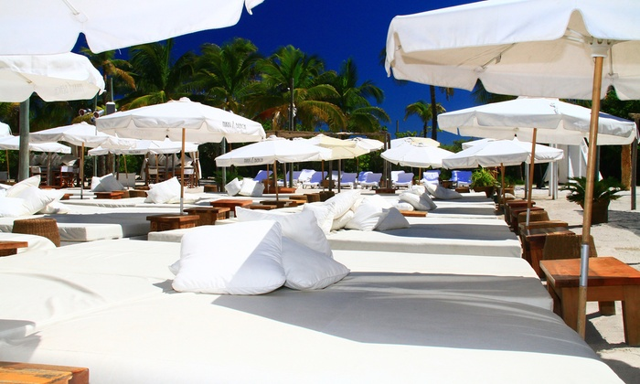 Nikki Beach Restaurant & Bar - South Pointe: Day Bed Package for Two or Day Bed Weekday Offer at Nikki Beach Restaurant & Bar (Up to 44% Off)