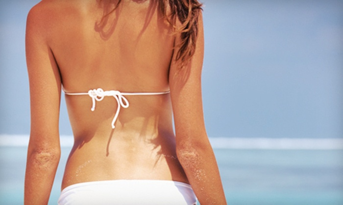 Just Glow Tanning and Boutique - Surprise: 3 Spray Tans or Month of UV Tanning at Just Glow Tanning and Boutique (Up to 78% Off). Three Options Available.