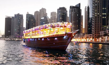 Marina or Creek Dhow Cruise with Dinner for Up to Four with Royal Desert Tours (Up to 51% Off)