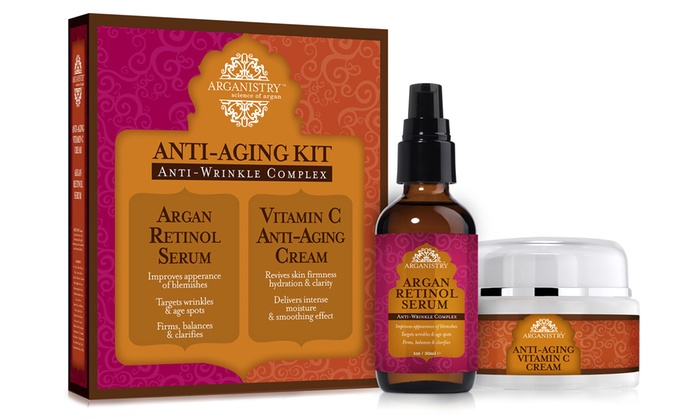 Arganistry Anti Aging Skincare Duo Wrinkle Retinol Serum And