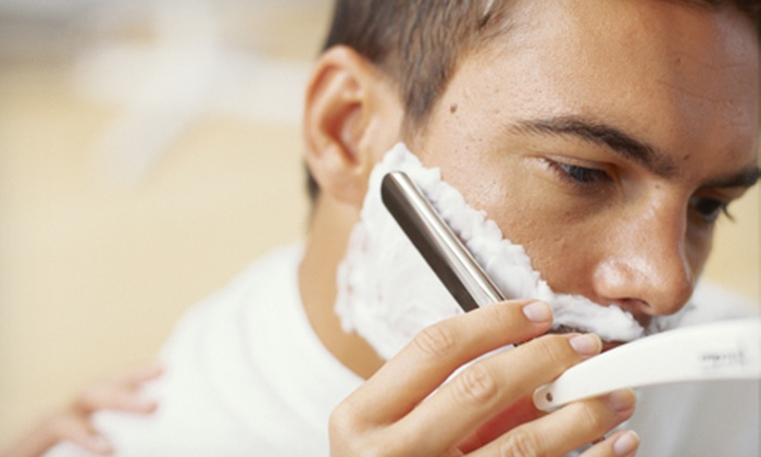 Kennedy's All-American Barber Club - Rockville Town Center: One or Two Hot Lather Shaves and Signature Haircuts at Kennedy's All-American Barber Club in Rockville (Up to 51% Off)