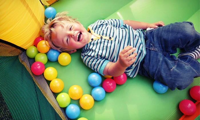 Jumpin Jack's Inflatable Playland - Hatfield: Open-Bounce Visit with Snacks for 2, 4, or 10 Kids at Jumpin Jack's Inflatable Playland (Up to 58% Off)