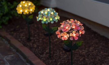 Touch Of ECO Solar LED Metal Flower Stake Lights