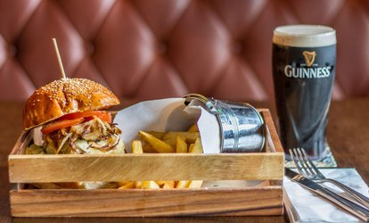 image for Burger and Beer for Two at The Lighthouse (41% Off)