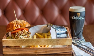 The Lighthouse: Burger and Beer for Two at The Lighthouse (41% Off)
