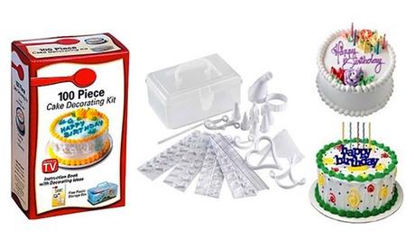 Kit de decoración para tartas y pasteles con 100 accesorios