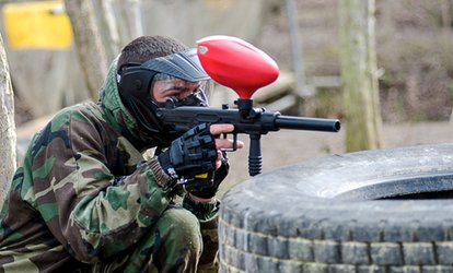 Paintball With 100 Balls Each and Domino's Pizza For Two, Four, 10, 15 or 20 at Conflict Paintball (Up to 87% Off)