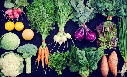 $39 for a One-Year Membership and One Box of Assorted Organic Produce from Johnson's Backyard Garden ($84 Value)