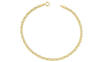 Tiger Eye Bracelet in 10K Yellow Gold