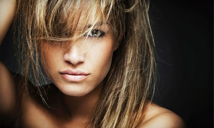 Dream Spa & Salon - Downtown Greenwich: Haircut and Blow-Dry with Deep-Conditioning Treatment or Partial Highlights at Dream Spa & Salon (Up to 53% Off)