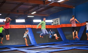 Sky Zone Evansville: Two 60-Minute Jump Passes with SkySocks at Sky Zone Evansville (Up to 45% Off). Two Options Available.