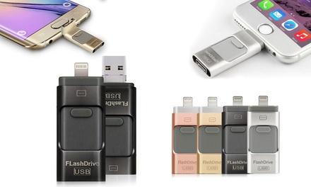 Stick mémoire pour iPhone 5/5S/5C/SE/6/6+/6S/6S+/7/7+ jusquà 32 Go de mémoire