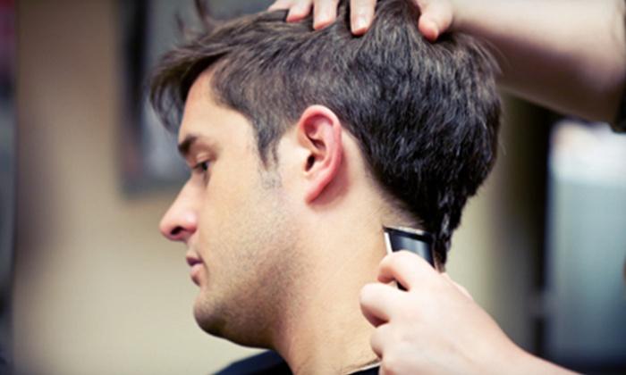 Bella Moda Hair & Nail Salon - Eileen at Bella Moda Hair & Nail Salon: One or Three Men's Haircuts, Warm Lather Neck Shaves, and Head Massages at Bella Moda Hair & Nail Salon (Up to 55% Off)
