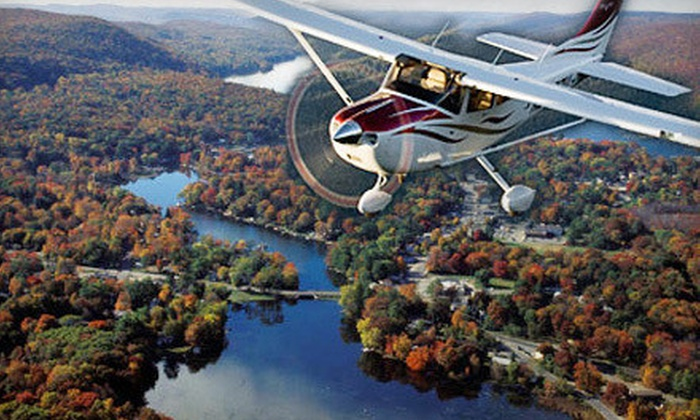 Sky Training LLC - Greenwood Lake Airport: $249 for a Romantic Day or Night New York Skyline Flight for Two from Sky Training LLC ($499 Value)