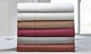 600TC Wexley Home Cotton-Rich Sheet Set (3pc. or 4pc.): 600-Thread-Count Wexley Home Cotton-Rich Sheet Set