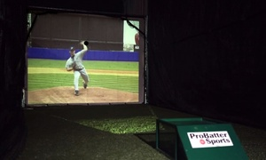 Champions Sports: One or Two One-Hour Sessions in a Virtual Batting Cage at Champions Sports (Up to 51% Off)