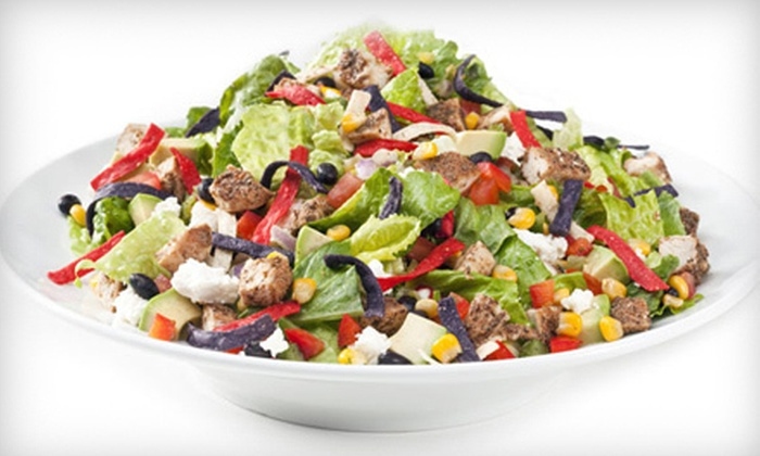 Tossed - Eldridge - West Oaks: Salads, Sandwiches, Soups, Panini and Crepe Wraps (Half Off). Two Options Available.