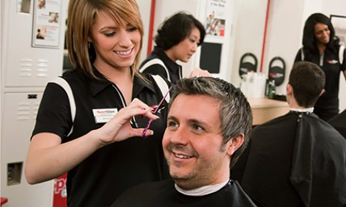 Sport Clips - Lorain: One or Three Men's MVP Haircuts with Hot-Towel Treatments and Neck Massages at Sport Clips (Up to 56% Off)