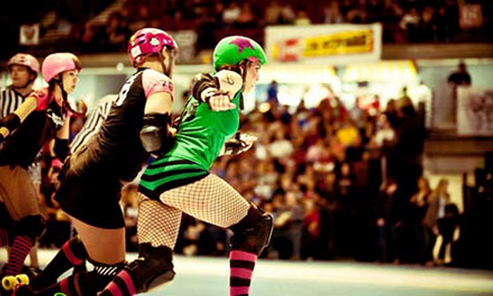Treasure Valley Roller Girls - Downtown: Treasure Valley Roller Girls Single-Bout Tickets on May 4 or Season Pass at CenturyLink Arena (Up to 51% Off)