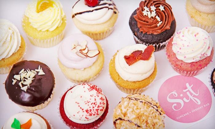 Sift Cupcake + Dessert Bar - Multiple Locations: One Dozen Cupcakes (a $36 value)