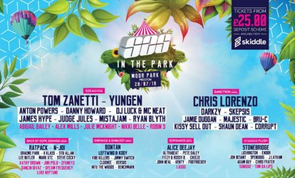 image for S2S in the Park: Featuring Tom Zanetti, Yungen, James hype and Mistajam, 28 July in Moor Park (Up to 24% Off)