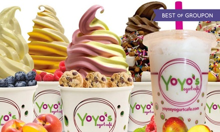 $6 for $10 Worth of Frozen Yogurt at YoYo's Yogurt Cafe