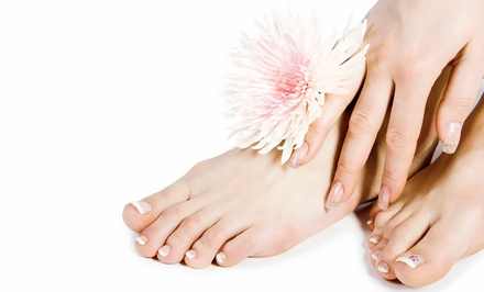 $37 for a No-Chip Manicure and Regular Pedicure at Perry George Salon & Spa ($75 Value)