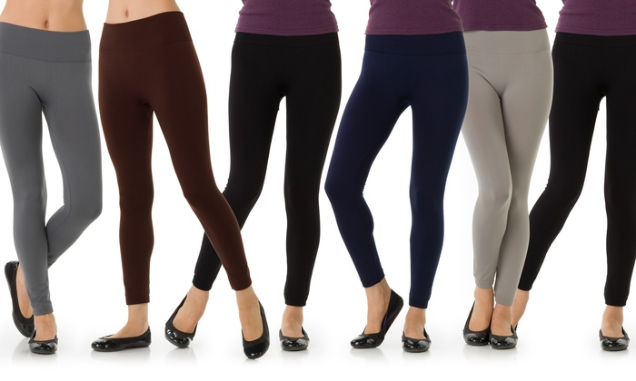 ab460047fa0891 6-Pack of Women's Leggings | Groupon Goods