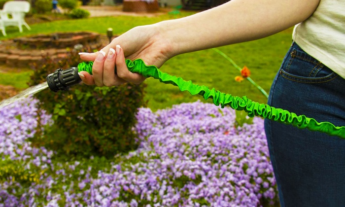 100ft. Xhose Expanding Garden Hose: 100ft. Xhose Expanding Garden Hose in Green