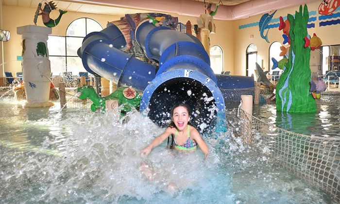 Atlantis Waterpark Hotel & Suites - Wisconsin Dells: One-Night Stay for Up to Eight with Water-Park Passes at Atlantic Waterpark Hotel & Suites in the Wisconsin Dells