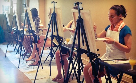 Adult Art Class for One or Two with Wine at Merlot's Masterpiece (Up to 55% Off)